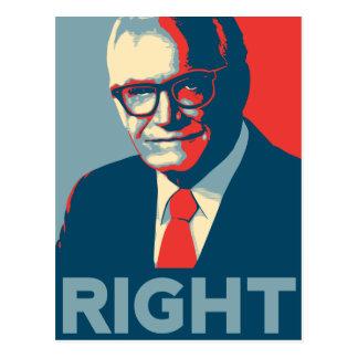 La derecha de Barry Goldwater Tarjetas Postales