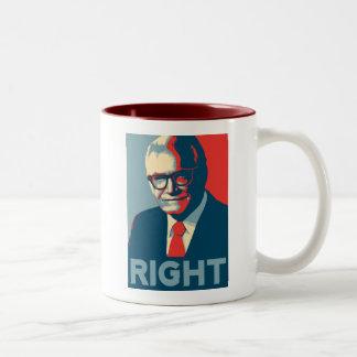 La derecha de Barry Goldwater Taza De Dos Tonos