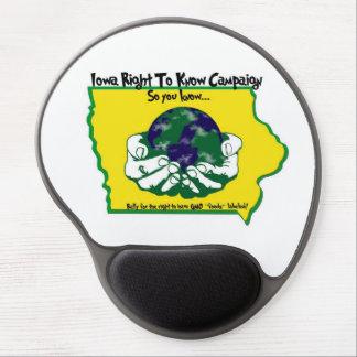 La derecha de Iowa de saber el gel Mousepad de la Alfombrilla De Ratón Con Gel