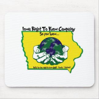 La derecha de Iowa de saber la campaña Mousepad