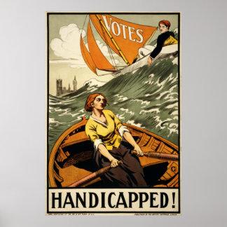 La derecha de la propaganda del sufragio de las mu póster