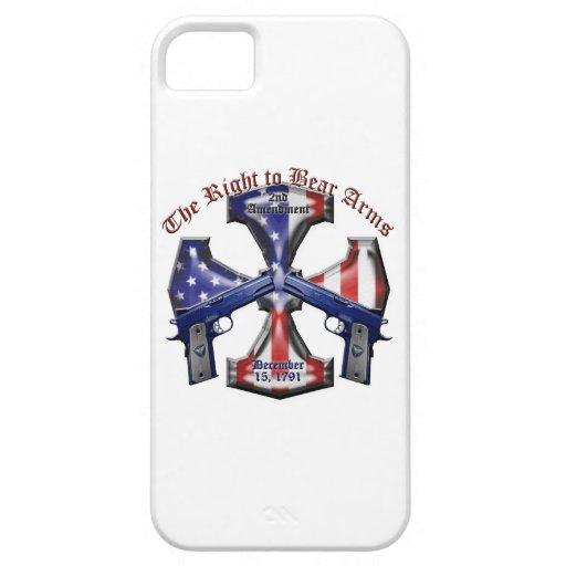 La derecha de llevar los brazos iPhone 5 carcasas