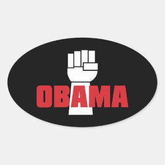 ¡La derecha de Obama encendido! Pegatina oval