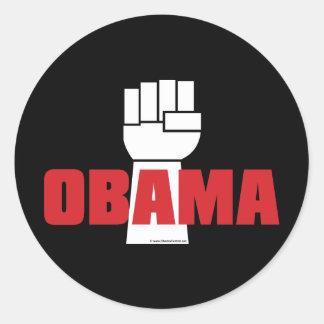 ¡La derecha de Obama encendido! Pegatinas Pegatinas Redondas