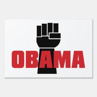 ¡La derecha de Obama encendido! Señal