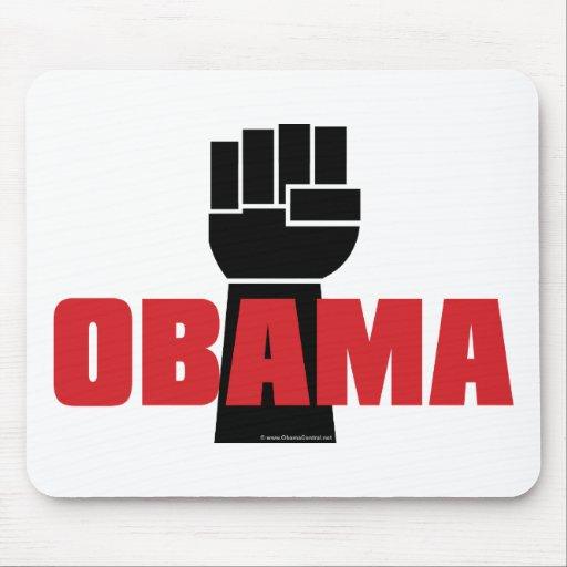 ¡La derecha de Obama encendido! Tapetes De Raton