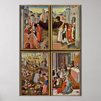 La derecha del altar de Ursula: Escenas a partir d Poster