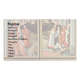 La derecha del altar de Ursula: Escenas a partir d Plantilla De Tarjeta De Negocio