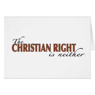 La derecha del cristiano tarjeta de felicitación