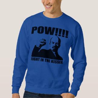 La derecha del prisionero de guerra en el Kisser Suéter