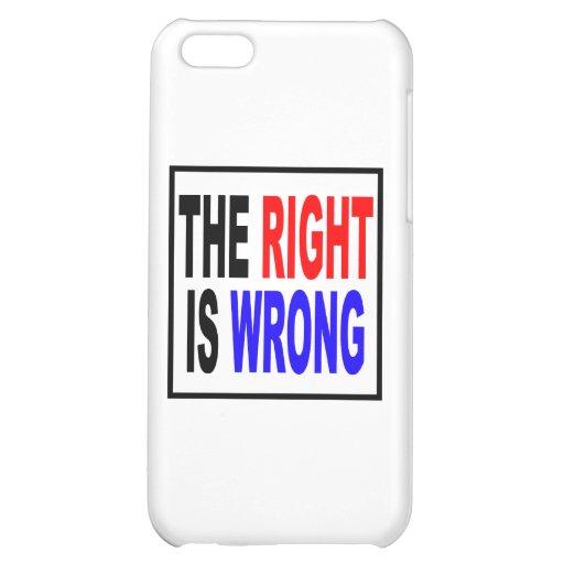 La derecha es incorrecta