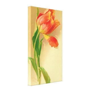 La derecha inclinable de la acuarela del tulipán d lona envuelta para galerias