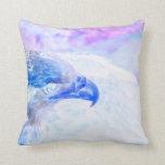 la derecha púrpura azul del revestimiento del águi almohadas