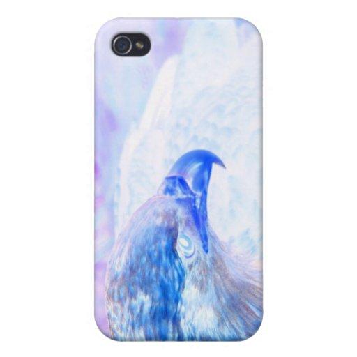 la derecha púrpura azul del revestimiento del águi iPhone 4 carcasas
