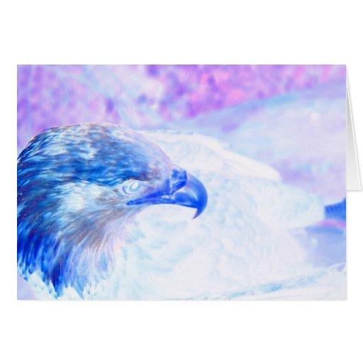 la derecha púrpura azul del revestimiento del tarjeta pequeña