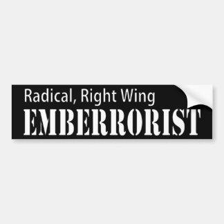 La derecha radical Emberrorist Etiqueta De Parachoque