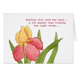 La derecha redacta la tarjeta de condolencia
