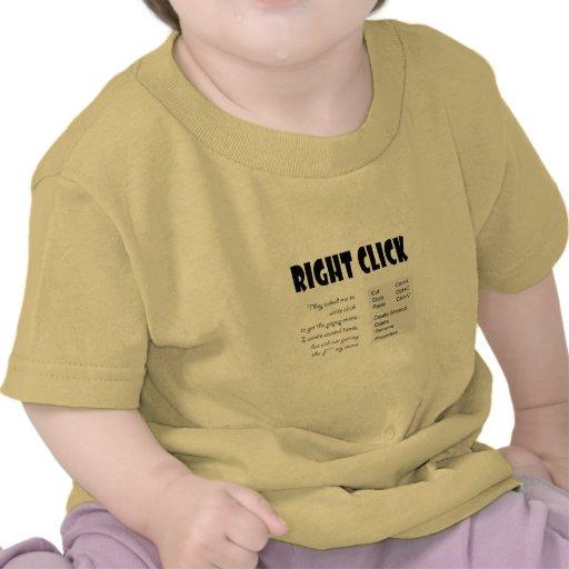 La derecha - tecleo camisetas
