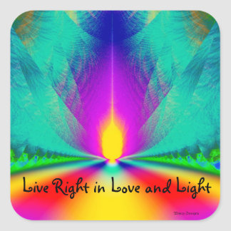 La derecha viva del pegatina espiritual en amor y