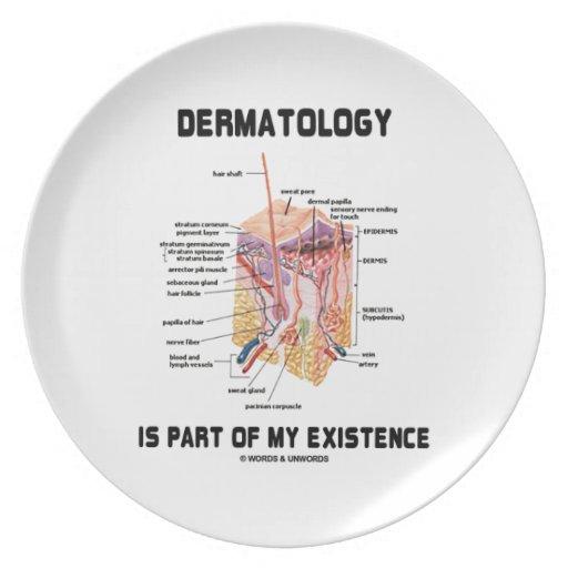 La dermatología es parte de mi existencia plato de cena