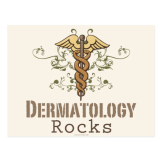 La dermatología oscila la postal del caduceo