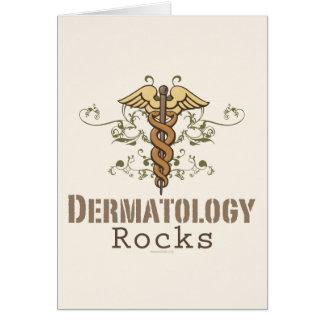 La dermatología oscila la tarjeta de felicitación