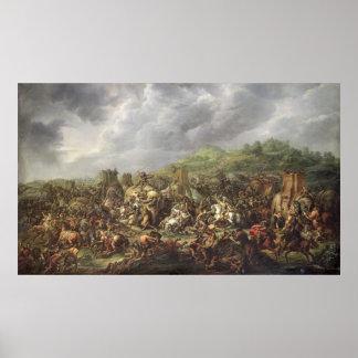 La derrota de Porus de Alexander el grande Póster