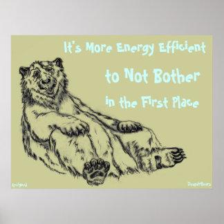 La desesperación del rendimiento energético lleva póster