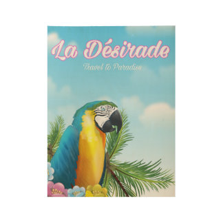 La Désirade Parrot travel poster