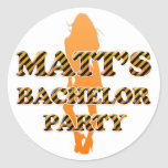 La despedida de soltero de Matt Etiqueta Redonda
