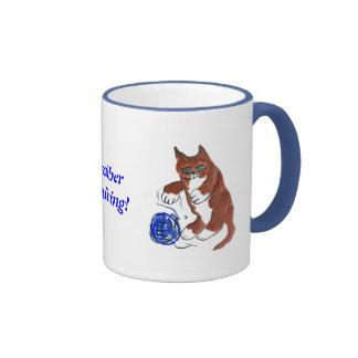 La despedida del hilado, Wheeeeee, dice el gatito Taza De Dos Colores