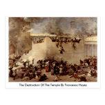 La destrucción del templo de Francesco Hayez Tarjeta Postal