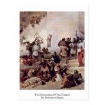 La destrucción del templo de Francesco Hayez Postal