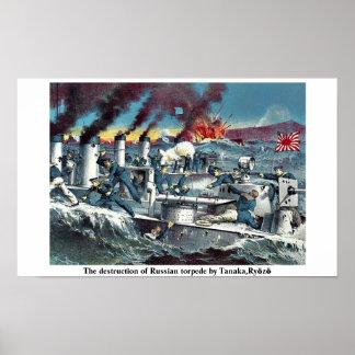 La destrucción del torpede ruso de Tanaka, Ryōzō Póster