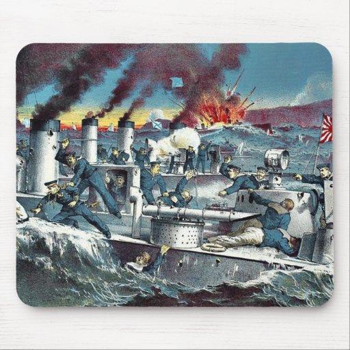 La destrucción del torpede ruso de Tanaka, Ryōzō Alfombrillas De Ratones