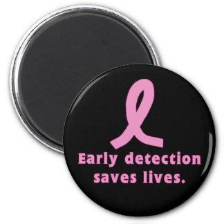 La detección temprana ahorra al cáncer de pecho de imán redondo 5 cm