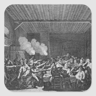 La detención de Louis XVI en Varennes Pegatina Cuadrada