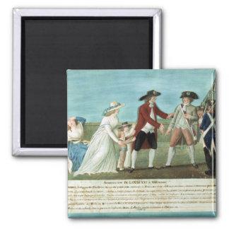 La detención de Louis XVI y su familia Imán Cuadrado