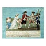 La detención de Louis XVI y su familia Tarjeta Postal