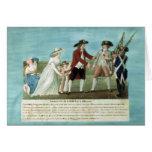 La detención de Louis XVI y su familia Tarjetón
