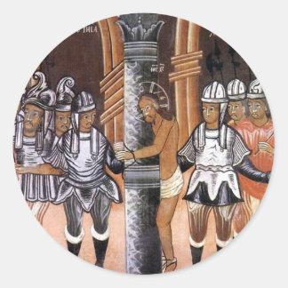 La detención del Jesucristo circa mediados de Pegatina Redonda