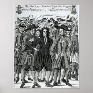 La detención del juez Jeffreys 1689 Póster