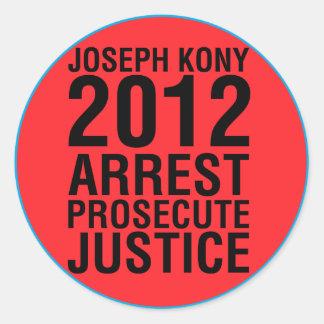La detención Kony2012 procesa al pegatina redondo