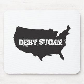 ¡La deuda chupa Cojín de ratón Alfombrillas De Ratón
