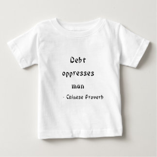 La deuda oprime al hombre playeras