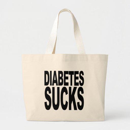 La diabetes chupa bolsa tela grande