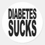 La diabetes chupa etiqueta redonda