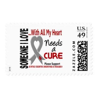 La diabetes juvenil necesita una curación 3 sello postal