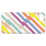 La diagonal colorida raya la caja de IPhone iPhone 5 Case-Mate Coberturas