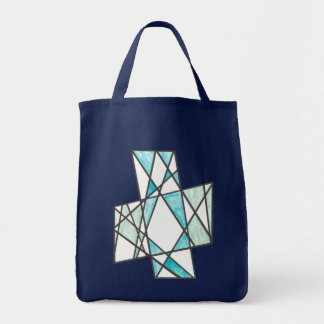 La diagonal cruza el bolso del adorno bolsa tela para la compra